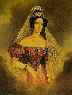Marie Anna Savojská, manželka Ferdinanda V. Dobrotivého, císaře rakouského a krále českého a uherského