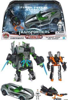 NIB Transformers 3 Dark of The Moon Sideswipe Flash Freeze Assault Sergeant Chao #Hasbro