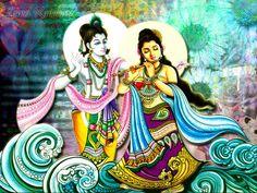krishna+and+radha | Radha Krishna Animated Wallpaper