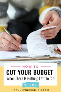 It is no secret that you need to make a budget. But, what do you do when you can't make the numbers work? This is a common question people ask themselves. So, how do you cut your spending?