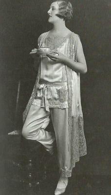 Satin Pyjamas 1925 Photo by Ernst Schneider Getty Images