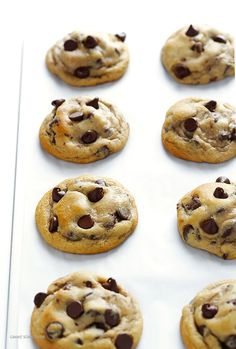 This recipe for chocolate chip cookies is my all-time FAVORITE! They're soft and chewy, perfectly buttery, and full of gooey chocolate chips.