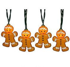 Smiling gingerbread men offer instant holiday charm in this indoor/outdoor string light set.