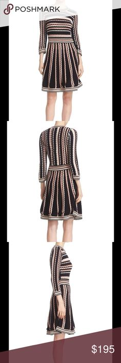 🆕 Kate Spade scallop stripe knit dress made from a soft blend of cashmere and cotton and decorated with scalloped stripes in a few complimentary hues, this flattering knit dress is as easy as it is stylish.   60% cotton, 6% silk and 34% viscose  long sleeves  fit and flare   Brand new with tag. Retail price $378. kate spade Dresses