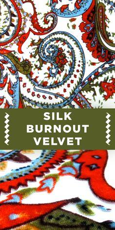 Paisley Floral Silk Burnout Velvet {Great for a vintage look!}