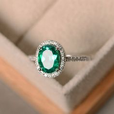 Items similar to Lab emerald ring, sterling silver, May birthstone, promise ring, engagement ring on Etsy Pear Cut Engagement Rings, Engagement Bands, Gold Diamond Wedding Band, Diamond Bands, White Gold Rings, White Gold Diamonds, Argent Sterling, Sterling Silver Rings, Emerald Jewelry