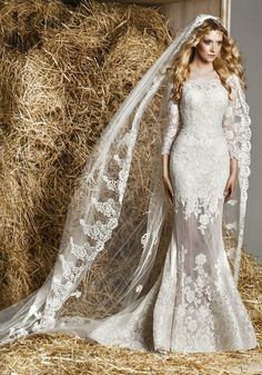 Zuhair Murad Off The Shoulder Mermaid Wedding Dress In Tulle An