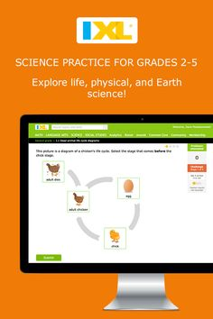 A fun new way for kids to learn and practice science online with IXL.com!