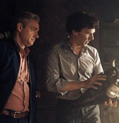 Putting Sherlock's flat back together.