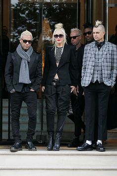 No Diggity    Gwen Stefani and her No Doubt band mates are photographed leaving the Langham Hotel in London on September 26.