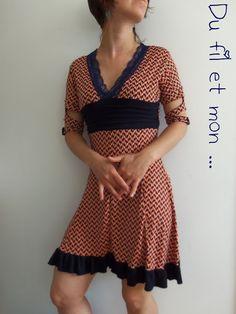 Du fil et mon...: Robe Magda : Le retour obligé