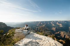 Spring Grand Canyon Engagement Session at Shoshone Point.