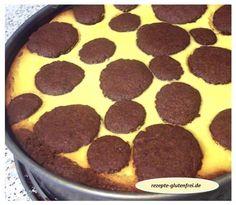 Russischer Zupfkuchen - feiner, glutenfreier Kakaomürbeteig mit Quarkfüllung! www.rezepte-glutenfrei.de #sweetmasterpieces #glutenfrei