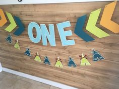 Chevron ONE Large Banner. Arrow One Banner, Tribal Banner, Tribal Banner, Aztec banner,  banner, 1st birthday, ONE banner