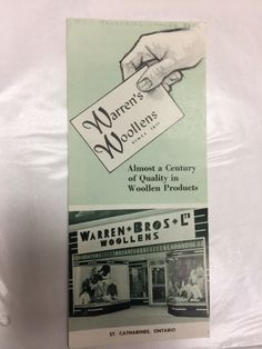 Interested in industries in St. We have information on Warren's Woolens. St Catharines, Local History, Textiles, Knitting, Books, Libros, Tricot, Breien, Weaving