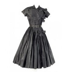 1950's Black taffeta vintage Galanos dress by mayra