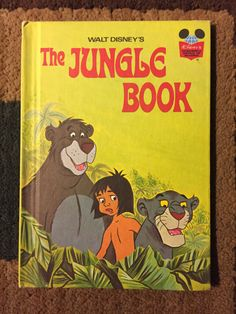 Disney's Wonderful World of Reading - The Jungle Book - 1974 - Hardcover by HECTORSVINTAGEVAULT on Etsy