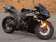 Blacked out Kawasaki Ninja