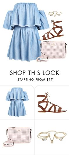 """Hundred waters"" by thefashionguilty on Polyvore featuring moda, Gianvito Rossi, Kate Spade, Lipsy, outfit y Blue"