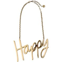 Lanvin Happy Necklace (1 695 AUD) ❤ liked on Polyvore featuring jewelry, necklaces, accessories, bijoux, colares, gold, lanvin, chains jewelry, lanvin necklace and chain necklaces
