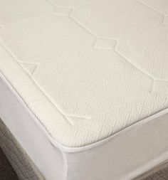 1/2-inch Memory Foam Mattress Pad - Queen by Memory Foam. $56.10. 1/2-Inch 2.5lb quilted memory foam. Easy care machine wash and dry. 240gsm air-knit Jacquard polyester/viscose bamboo blend cover. Stain resistant cover. 18-Inch stretch knit skirt. 1/2-Inch quilted memory foam mattress pad is a 240 grams per square meter air knit Jacquard polyester/viscose bamboo blend cover. The fabric is stain resistant and intricately diamond quilted with 1/2-Inch of 2.5-Pound memory fo...