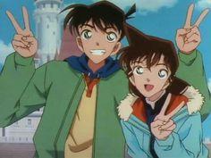 Shinichi und Ran - anime Detective Conan Ran, Detective Conan Shinichi, Ran And Shinichi, Kudo Shinichi, Magic Kaito, Happy Tree Friends, Sherlock Holmes, Manga Anime, Anime Art