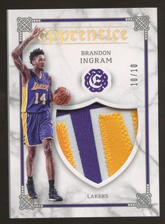 69748aaa1 2016-17 Panini Excalibur Epprentice Brandon Ingram Lakers RC Patch 10 10