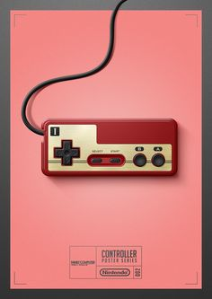 Controller Poster Series Created by Quentin Fevre Vintage Video Games, Vintage Games, Retro Games, King's Quest, Viewtiful Joe, Gaming Posters, 8 Bits, Retro Videos, Some Games