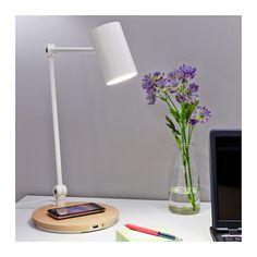 RIGGAD Lampe bureau+station charge s fil  - IKEA