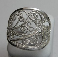 Sterling Silver Filigree Ring by BanksiaCreations on Etsy, $35.00