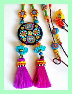 ~ Handmade Fimo beads jewelry ~ | Flickr - Photo Sharing!  These remind me of those fabulous African Trade beads from the 1970's.