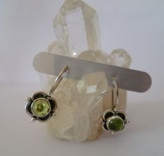 Ohrhänger - ✿ Sterlingohrhänger mit Peridot ✿ - ein Designerstück von Cafe-bijoux bei DaWanda