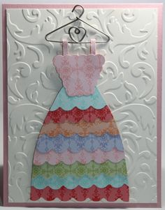 Birthday Stampin Up Dress Card
