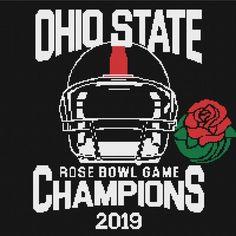 Rose Bowl Champions 2019 Ohio State University Mens Full Zip Hoodie Old School
