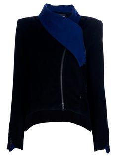 ANN DEMEULEMEESTER - Asymmetrical Collar Jacket