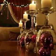 Sophisticated christmas table decoration