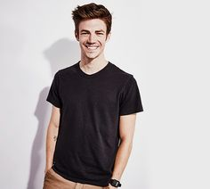 Grant Gustin poses for Getty Images Portrait Studio Powered by Samsung Galaxy