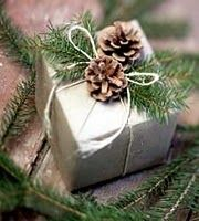 gift wrapping idea..adorable. what to do with all the leftover branches from our tree!