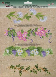 flower garlands one stroke painting | One Stroke Art