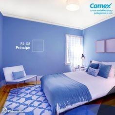 Deja que la paz le de #color a tu dormitorio. #Decoración #Comex #decoracionderecamaras