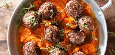 Juicy meatballs with pumpkin mash | Food24