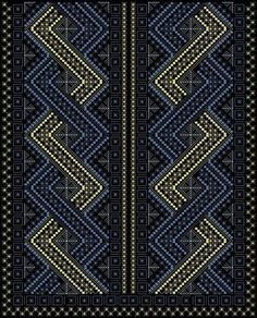 This Pin was discovered by rab Blackwork Embroidery, Cross Stitch Embroidery, Cross Stitch Patterns, Palestinian Embroidery, Cross Stitch Bookmarks, Native American Beadwork, Embroidery Fashion, Embroidery Techniques, Stitch Design