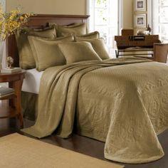 King Charles Matelasse Birch Bedspread, 100% Cotton - BedBathandBeyond.com