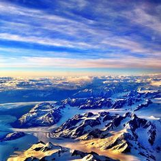 A shot from my recent flight back to Michigan - the mountains just east of Anchorage, Alaska. Capital Of Usa, Alaska Railroad, Heaven On Earth, Winter Sports, Airplane View, Michigan, Cruise, Beautiful Places, Anchorage Alaska