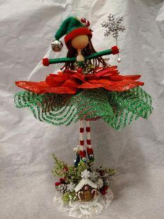 Christmas Tree Fairy, Christmas Crafts, Christmas Decorations, Christmas Ornaments, Magical Christmas, Merry Christmas, Fairy Crafts, Doll Crafts, Diy Doll