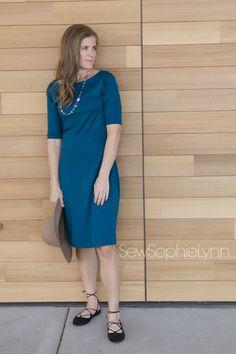 Love Notions Tessa Sheath Dress sewn by SewSophieLynn