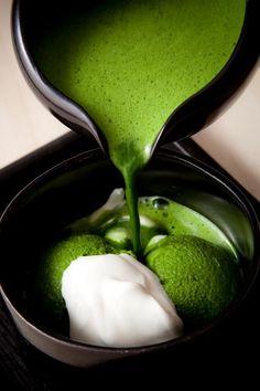 Japanese dessert, Powdered green tea ice cream