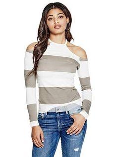 Jasmine Cold-Shoulder Top   shop.GUESS.com