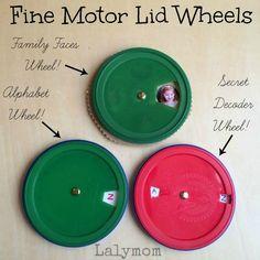 Fine Motor Skills Wheels & Volvelle Tutorial- Fine Motor Fridays - LalyMom