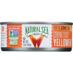 Natural Sea Tuna - Yellowfin - Chunck Light - No Salt Added - 5 oz - case of 12